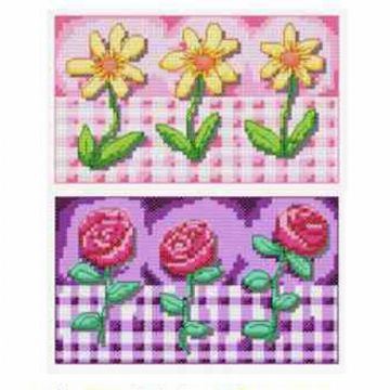 Gingham Daisies and Roses# 606